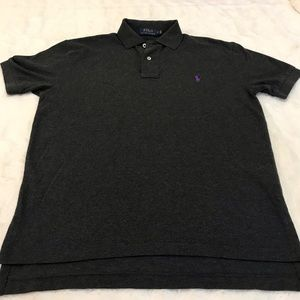 Men's Charcoal Gray Polo by Ralph Lauren